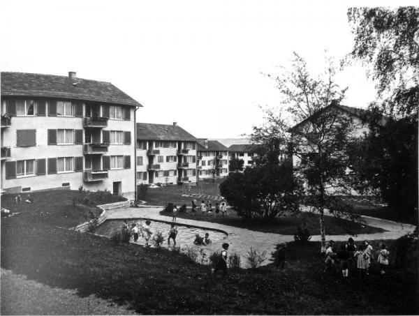 Die Stadt ist angekommen: die neue Siedlung Triemli 1946